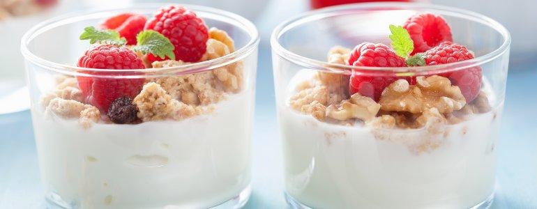 joghurt diaet  mit frischem obst