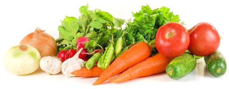 Gemüse für die Rohkostdiät