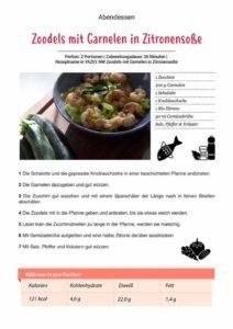 Zoodels mit Garnelen Rezept 212x300 - Unser Stoffwechselkur Buch